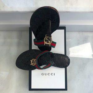Gucci sandals web strap